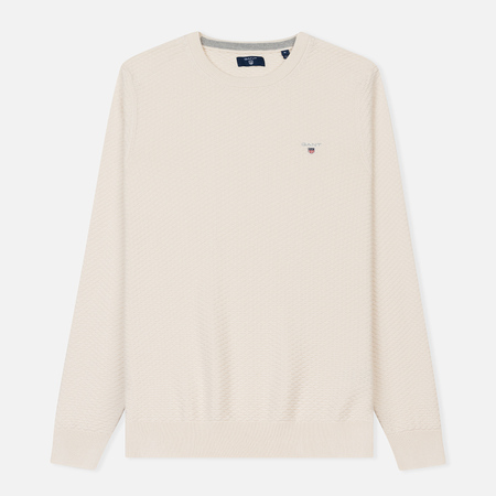 Мужской свитер Gant Triangle Texture Crew Cream