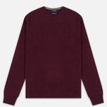 Мужской свитер Hackett Crew Neck Logo Berry фото- 0