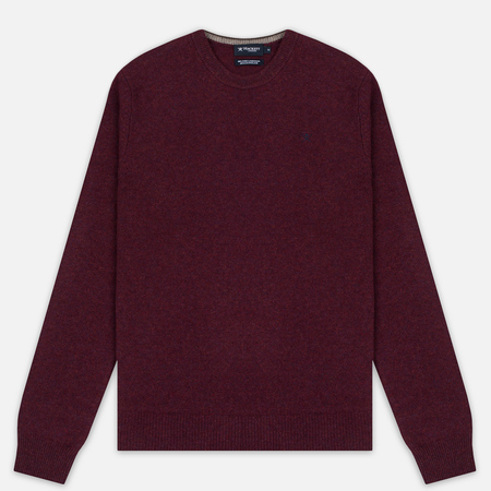 Hackett Crew Neck Logo Men's Sweater Berry