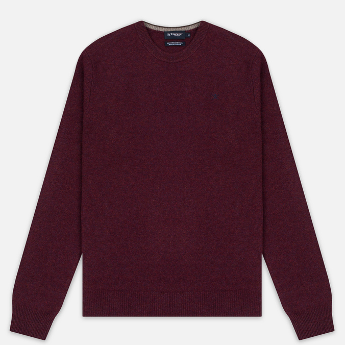 Мужской свитер Hackett Crew Neck Logo Berry