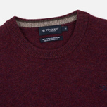 Мужской свитер Hackett Crew Neck Logo Berry фото- 1