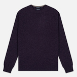 Мужской свитер Hackett Crew Neck Logo Deep Purple фото- 0