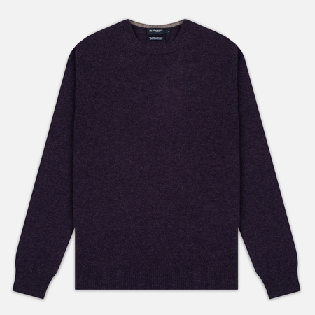Hackett Crew Neck Logo Men's Sweater Deep Purple