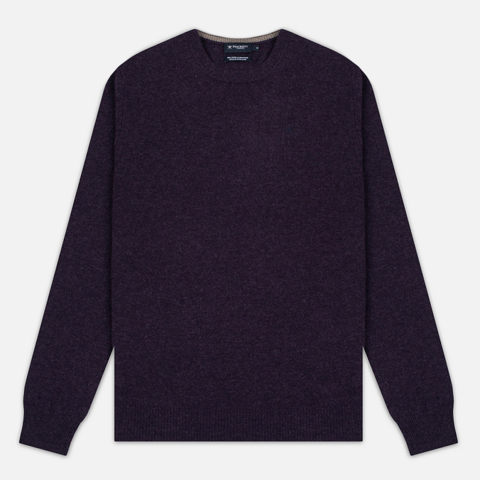 Мужской свитер Hackett Crew Neck Logo Deep Purple