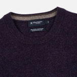 Мужской свитер Hackett Crew Neck Logo Deep Purple фото- 1