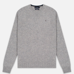 Мужской свитер Hackett Crew Neck Logo Light Grey фото- 0