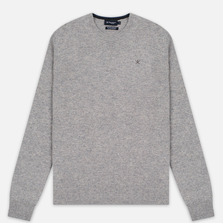 Мужской свитер Hackett Crew Neck Logo Light Grey