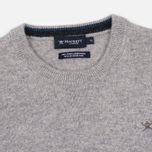 Мужской свитер Hackett Crew Neck Logo Light Grey фото- 1
