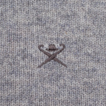 Мужской свитер Hackett Crew Neck Logo Light Grey фото- 2