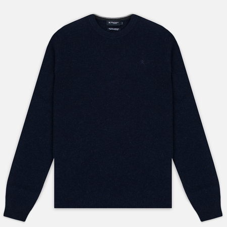 Hackett Crew Neck Logo Men's Sweater Navy Melange