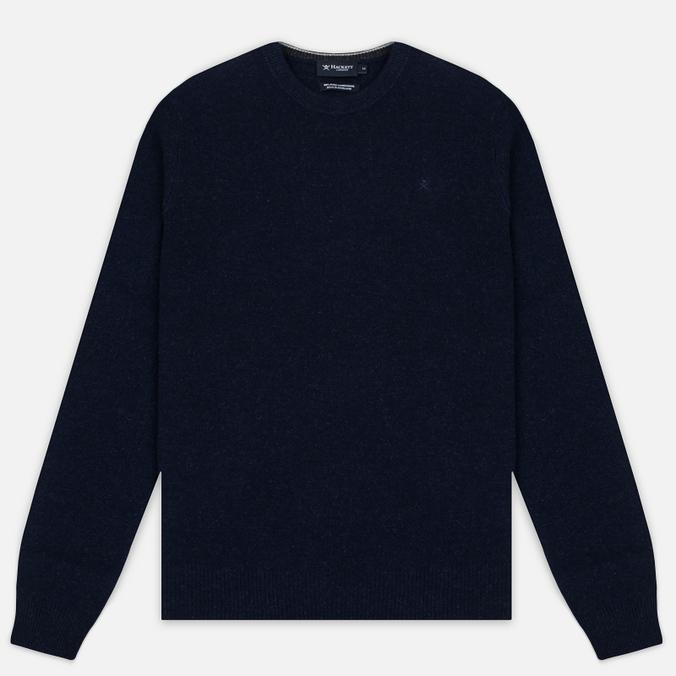 Мужской свитер Hackett Crew Neck Logo Navy Melange