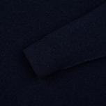 Мужской свитер Hackett Crew Neck Logo Navy Melange фото- 2