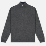 Мужской свитер Hackett Half Zip Grey Marl фото- 0