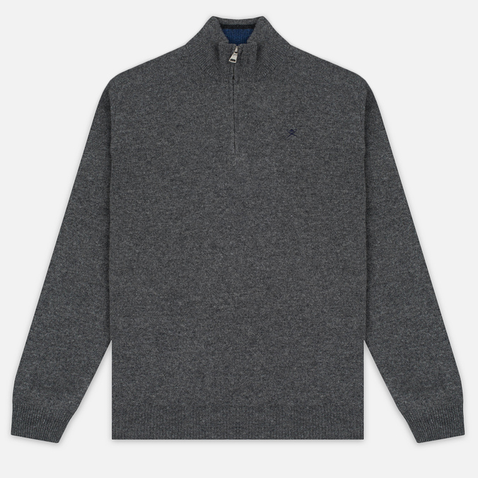 Мужской свитер Hackett Half Zip Grey Marl