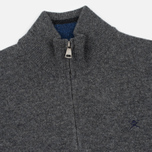 Мужской свитер Hackett Half Zip Grey Marl фото- 1