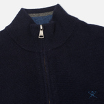 Мужской свитер Hackett Half Zip Navy фото- 1