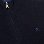 Мужской свитер Hackett Half Zip Navy фото- 2