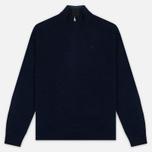 Мужской свитер Hackett Half Zip Navy Melange фото- 0
