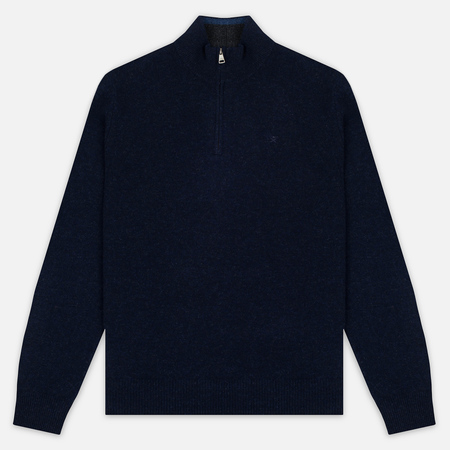 Hackett Half Zip Men's Sweater Navy Melange