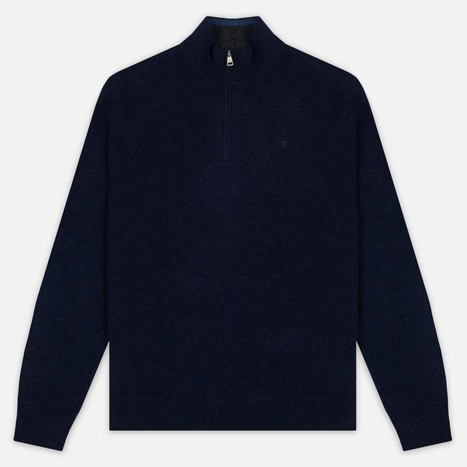 Мужской свитер Hackett Half Zip Navy Melange