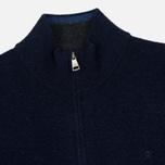 Мужской свитер Hackett Half Zip Navy Melange фото- 1