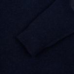 Мужской свитер Hackett Half Zip Navy Melange фото- 2