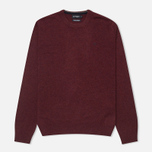 Мужской свитер Hackett Lambswool Crew Neck Berry фото- 0