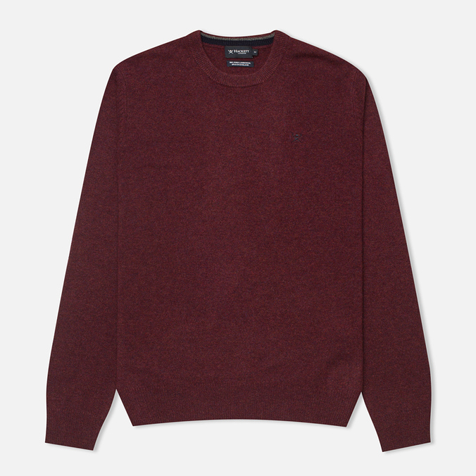 Мужской свитер Hackett Lambswool Crew Neck Berry