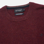 Мужской свитер Hackett Lambswool Crew Neck Berry фото- 1