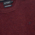 Мужской свитер Hackett Lambswool Crew Neck Berry фото- 2