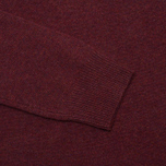 Мужской свитер Hackett Lambswool Crew Neck Berry фото- 3