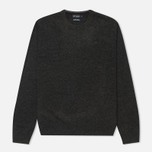 Мужской свитер Hackett Lambswool Crew Neck Charcoal фото- 0