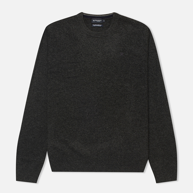 Мужской свитер Hackett Lambswool Crew Neck Charcoal