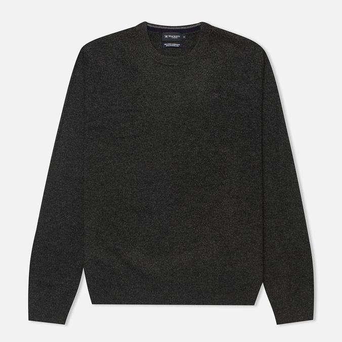 Hackett Lambswool Crew Neck Men's Sweater Charcoal