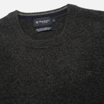 Мужской свитер Hackett Lambswool Crew Neck Charcoal фото- 1