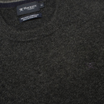 Мужской свитер Hackett Lambswool Crew Neck Charcoal фото- 2