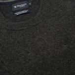 Hackett Lambswool Crew Neck Men's Sweater Charcoal photo- 2