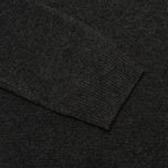 Мужской свитер Hackett Lambswool Crew Neck Charcoal фото- 3