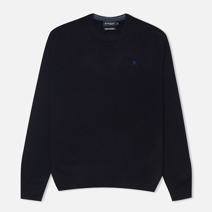 Мужской свитер Hackett Lambswool Crew Neck Navy