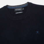 Мужской свитер Hackett Lambswool Crew Neck Navy фото- 1