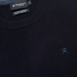 Мужской свитер Hackett Lambswool Crew Neck Navy фото- 2