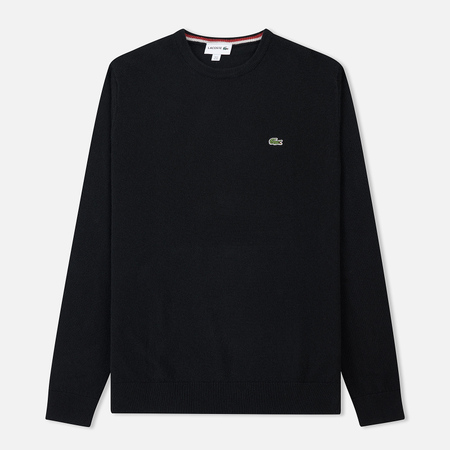 Мужской свитер Lacoste Crew Neck Wool Black/Passion Flour