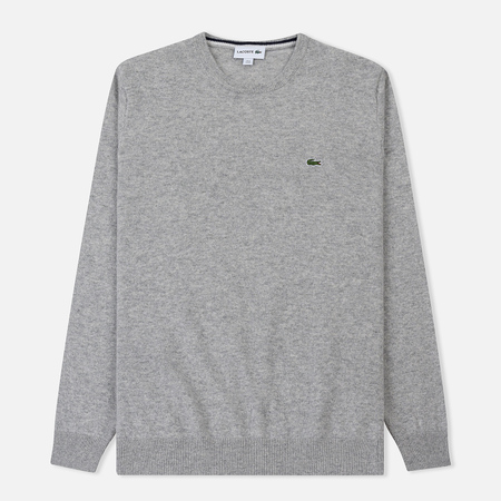 Мужской свитер Lacoste Crew Neck Wool Silver Chine/Navy Blue Flour