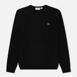 Мужской свитер Lacoste Embroidered Croc Logo Crew Neck Black фото- 0