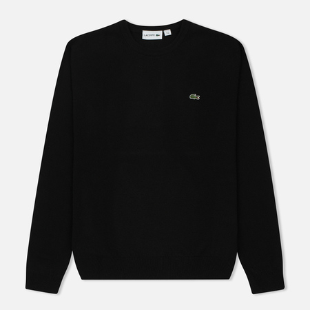Мужской свитер Lacoste Embroidered Croc Logo Crew Neck Black
