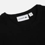 Мужской свитер Lacoste Embroidered Croc Logo Crew Neck Black фото- 1