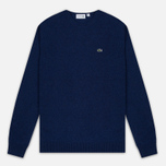 Мужской свитер Lacoste Embroidered Croc Logo Crew Neck Blue фото- 0
