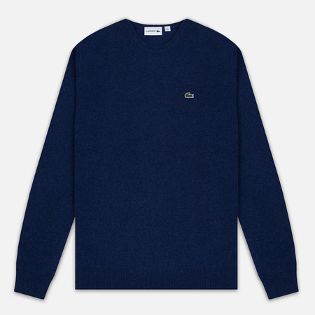 Мужской свитер Lacoste Embroidered Croc Logo Crew Neck Blue