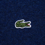 Мужской свитер Lacoste Embroidered Croc Logo Crew Neck Blue фото- 2