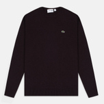Мужской свитер Lacoste Embroidered Croc Logo Crew Neck Burgundy фото- 0